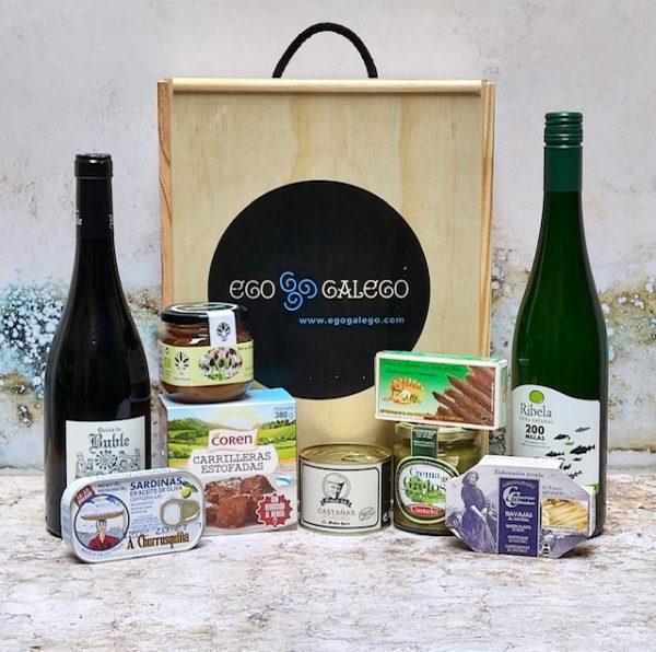 Breixo. Lote de Navidad de productos elaborados en Galicia