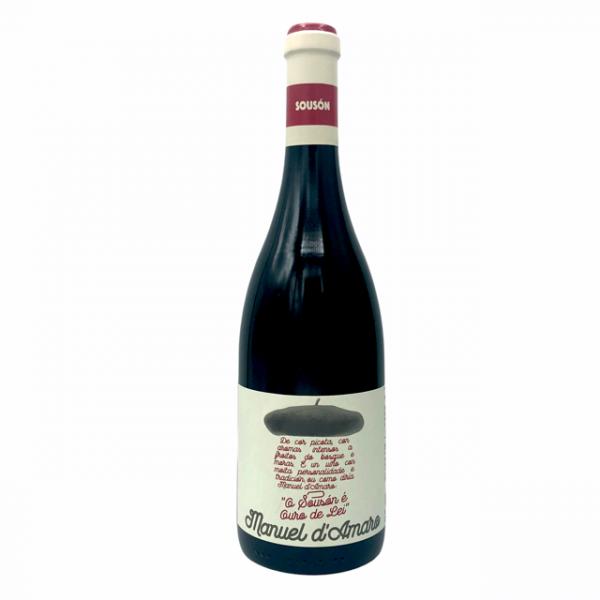 Vino tinto Souson Manuel d'Amaro, un monovarietal tinto elaborado en la Rías Baixas